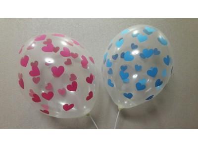 Розовые/голубые сердца, кристалл