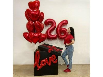 Коробка с цифрами  Love