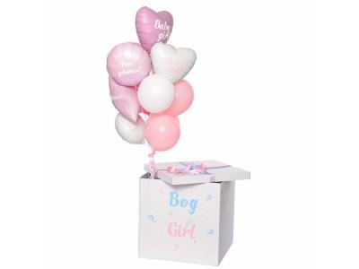 Коробка-угадайка для определения пола ребенка, белая