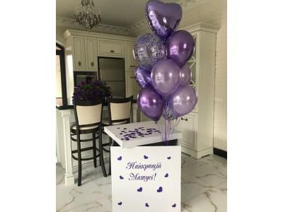 Коробка с шарами Найкращій матусі