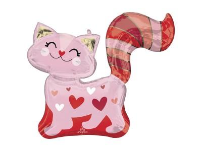 Кошка в сердечках, 78*66
