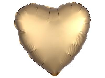 """Сердце золото сатин 18"""""""