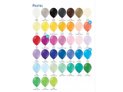 Палитра Цветов шаров Пастель (матовые)
