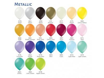 Палитра Цветов шаров Металлик (перламутровые)