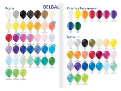 Палитра Цветов латексных шаров