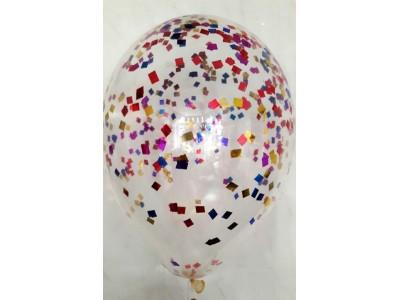 Прозрачный шар с конфетти 33 см