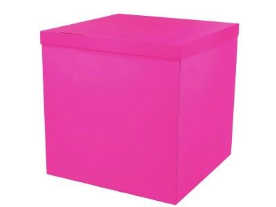Коробка-сюрприз 70*70*70 см Малиновая