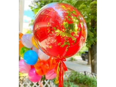Стеклянный шар-гигант 45 см с блестками