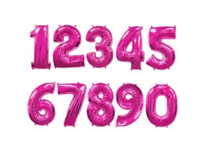 Цифры фольгированные ФУКСИЯ (Малиновый), высота 1 м