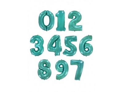 Цифры фольгированные МЯТА (Тиффани), высота 1 м