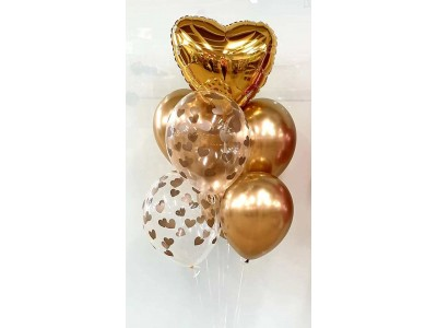 Золотое сердце, 7 шт.
