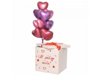 Коробка-сюрприз  с  надписью и сердцами