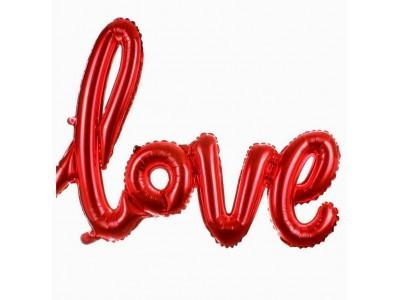 """Фольгированный шар Надпись """"LOVE"""", красный, 1 м"""
